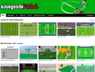 ejuegosdefutbol.com screenshot