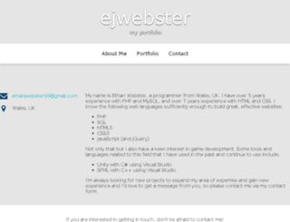 ejwebster.com screenshot
