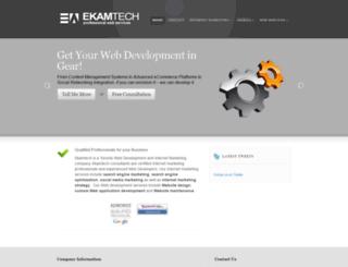 ekamtech.com screenshot