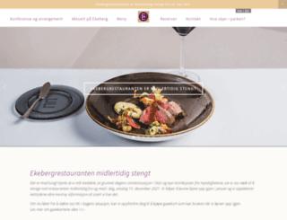 ekebergrestauranten.com screenshot