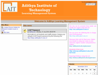 ekluvya.adithyatech.edu.in screenshot