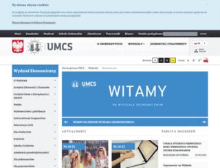 ekonomia.umcs.lublin.pl screenshot