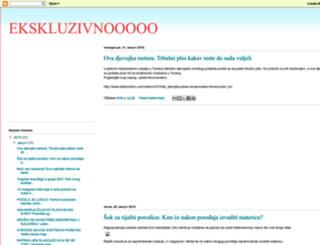 ekskluzivnevesti.blogspot.com screenshot