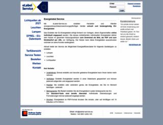 elabel-service.eu screenshot