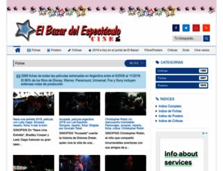 elbazardelespectaculocine.blogspot.mx screenshot