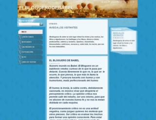 elbloguerodebabel.webnode.es screenshot