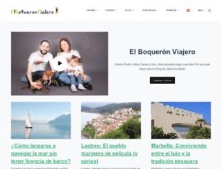 elboqueronviajero.com screenshot