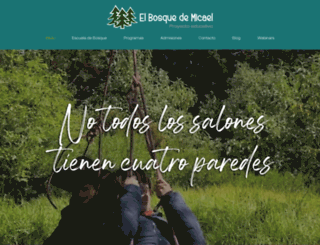 elbosquedemicael.com.mx screenshot