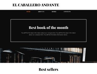 elcaballeroandante.com screenshot