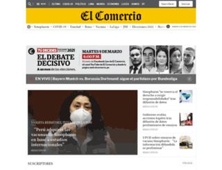 elcomercioperu.com.pe screenshot