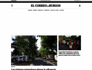 elcorreodeburgos.com screenshot