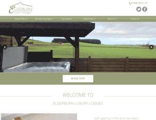 elderburnlodges.co.uk screenshot