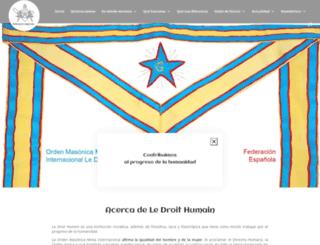 elderechohumano.org screenshot