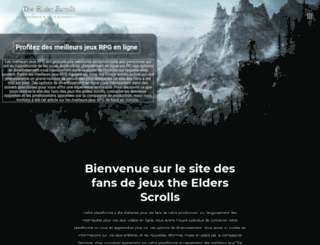 elderscrolls-online.fr screenshot