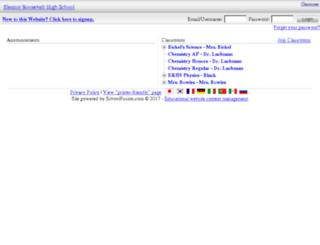 eleanor.groupfusion.net screenshot