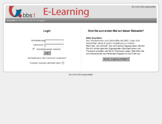 elearn.bbs-1.de screenshot