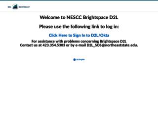 elearn.northeaststate.edu screenshot