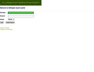elearn.welingkar.org screenshot
