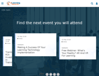 elearning-events.com screenshot