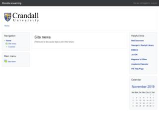 elearning.crandallu.ca screenshot