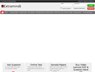 elearning.extraminds.com screenshot
