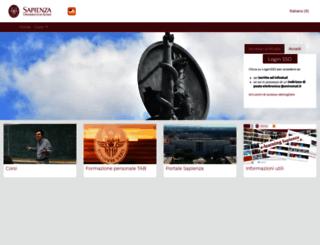 elearning.uniroma1.it screenshot