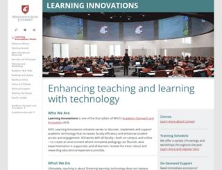elearning.wsu.edu screenshot