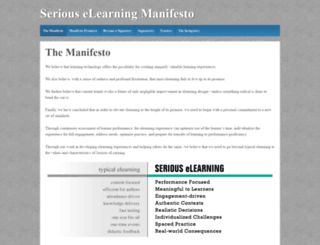 elearningmanifesto.org screenshot