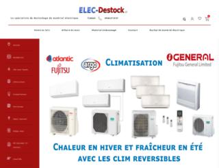elec-destock.fr screenshot