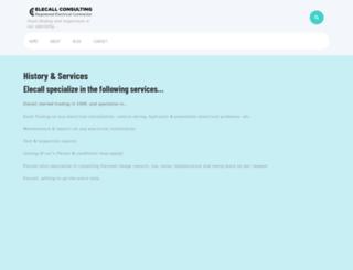 elecall.co.za screenshot