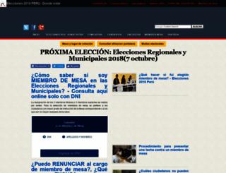 eleccionesenperu.com screenshot
