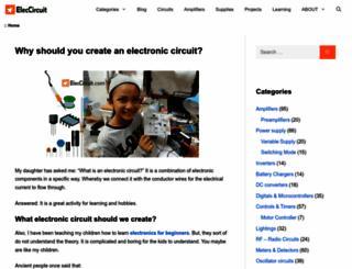 eleccircuit.com screenshot