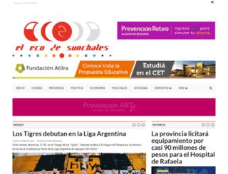 elecosunchales.com.ar screenshot