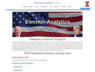 electionanalytics.cs.illinois.edu screenshot