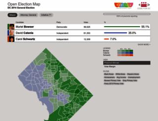 electionmap.wamu.org screenshot