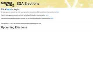elections.gatech.edu screenshot