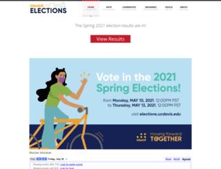 elections.ucdavis.edu screenshot