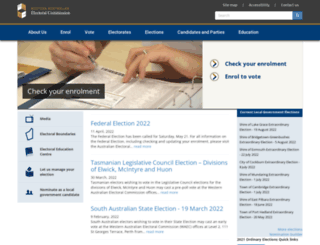 elections.wa.gov.au screenshot