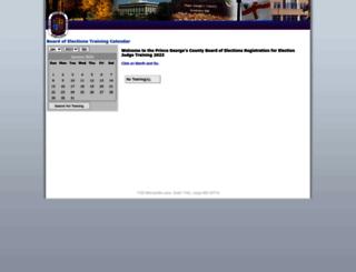 electionscalendar.princegeorgescountymd.gov screenshot