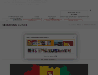 electionsguinee.com screenshot