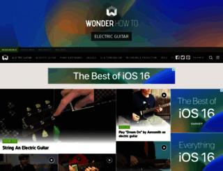 electric-guitar.wonderhowto.com screenshot
