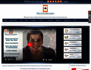 electricalexam.ca screenshot
