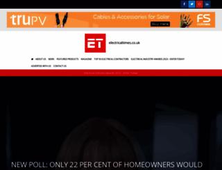electricaltimes.co.uk screenshot