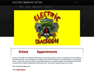 electricbaboontattoo.com screenshot
