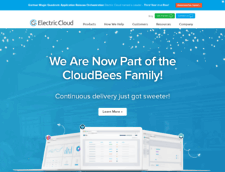 electriccloud.com screenshot