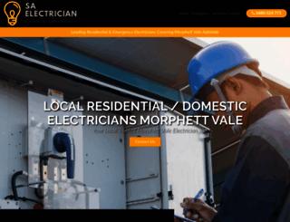 electricianmorphettvale.com.au screenshot