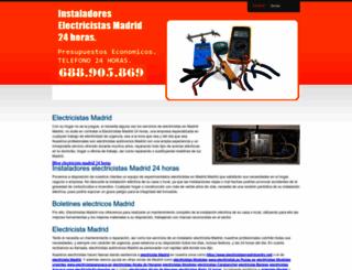 electricistasmadrid-24horas.com screenshot