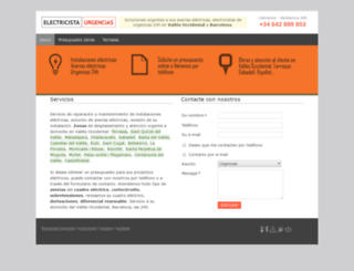electricistaurgencias.com screenshot