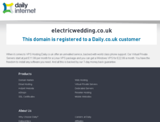 electricwedding.co.uk screenshot