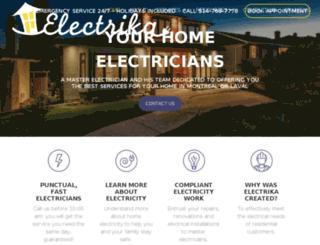 electrika.ca screenshot